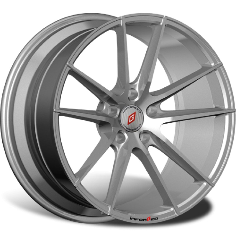 Диски R18 5x114,3 8J ET45 D67,1 INFORGED IFG25 Silver лого IFG (S+RED, 64 мм)
