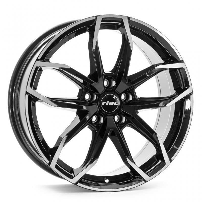 Диски R17 5x114,3 7,5J ET37 D70,1 Rial Lucca Diamond Black Front Polished MP